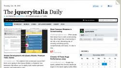 Il quotidiano jQueryItalia