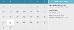 Un calendario personalizzabile