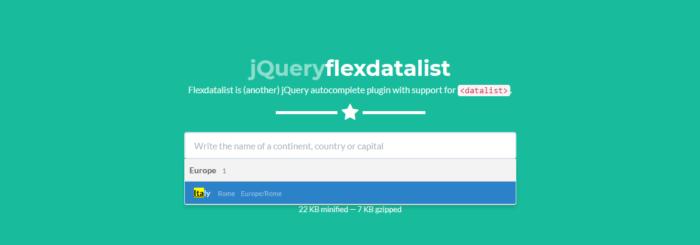 jQuery Flexdatalist